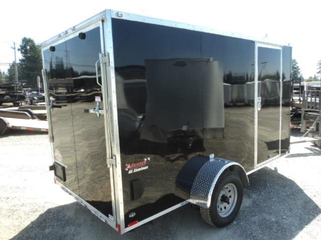 """2020 Cargo Mate Aluminum 6X12 Wedge w/6"""" Additional Height Rear Ramp"""