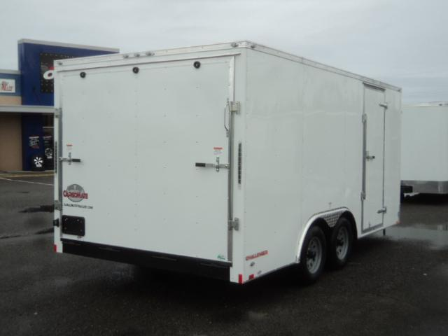 "2020 Cargo Mate Challenger 8.5x16 7K w/6"" Extra Height/Rear ramp door/Vent"