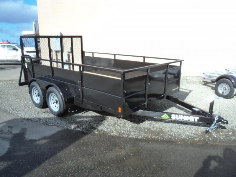 2018 Summit Cascade 7x12 Dual Axle Utility Trailer