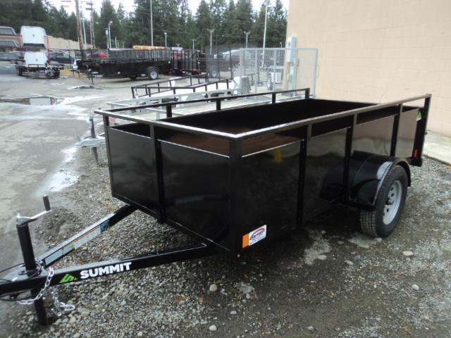 2018 Summit Alpine 5X10 Single Axle W/Split Ramp Utility Trailer
