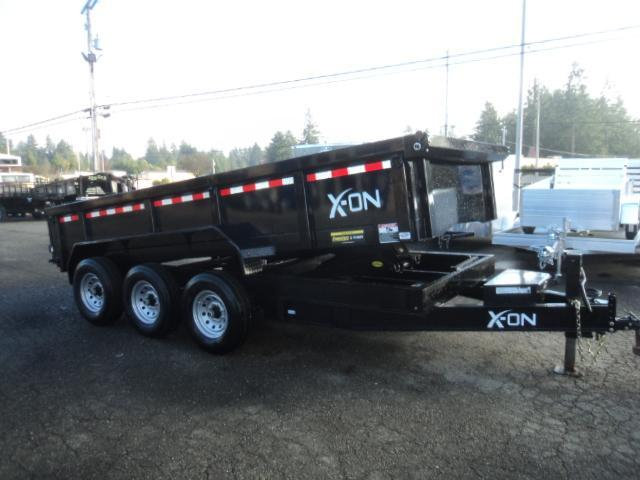"2019 X-On 7x16 21K 8"" I Beam Dump Trailer w/Tarp Kit/Ramps++"