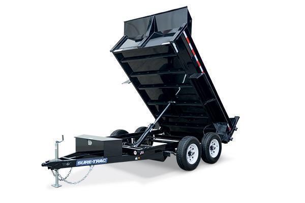 2020 Sure-Trac 6x10 7K Low Profile Dump Trailer [RAMPS + COMBO GATE]