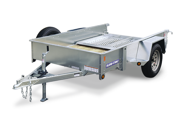 2018 Sure-Trac 7x12 Galvanized High Side Utility Trailer