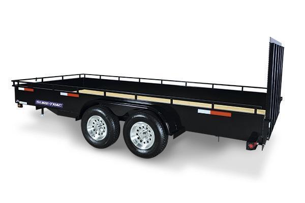 2019 Sure-Trac 7x16 Steel High Side Utility Trailer