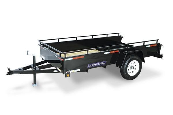 2018 Sure-Trac 5x8 Steel High Side Utility Trailer