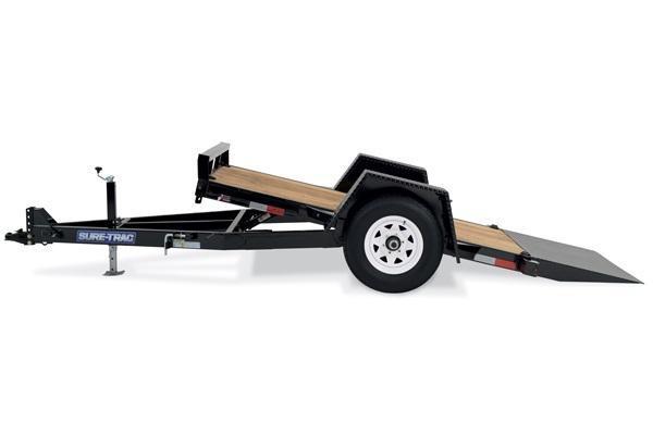 2018 Sure-Trac 6.5x12 Single Axle Tilt Equipment Trailer