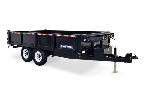 2018 Sure-Trac 96x14 14K Deckover Dump Trailer