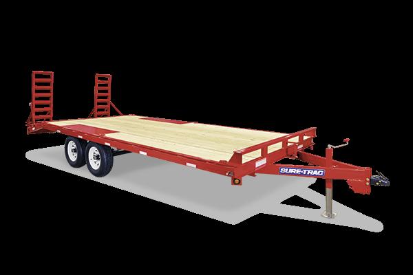 2017 Sure-Trac 8.5x17+3 10K Beavertail Deckover Equipment Trailer