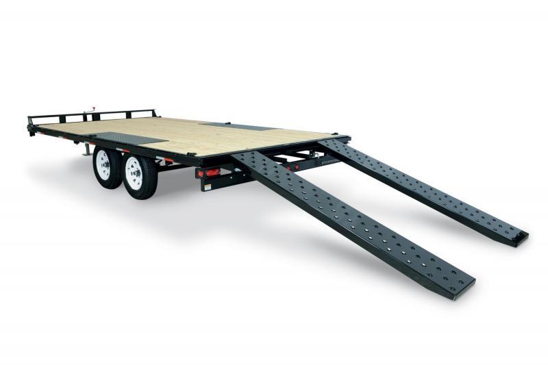 2019 Sure-Trac 8.5x20 15K Flatbed Deckover Equipment Trailer