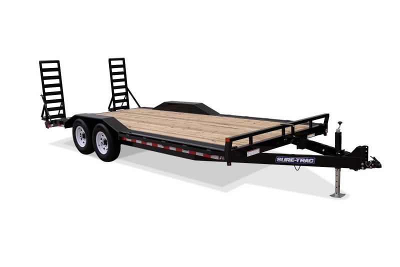 2019 Sure-Trac 8.5X20 14K Full-Width Implement Equipment Trailer