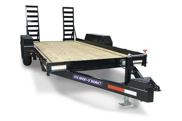 2019 Sure-Trac 7x16 10K Skid Steer Equipment Trailer