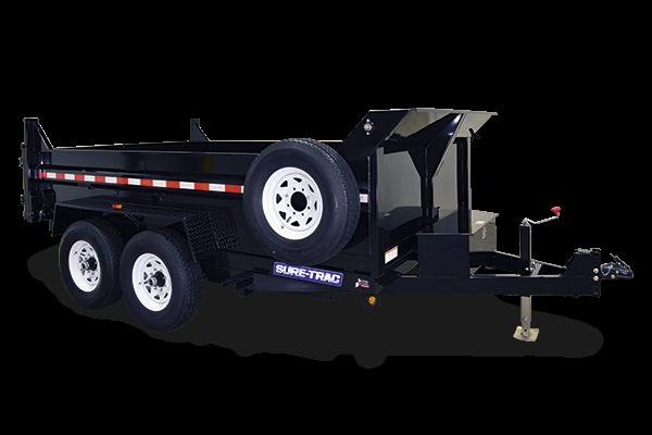 2019 Sure-Trac 7x14 14K LowProfile Dump Trailer [SCISSOR - HIGH SIDE]