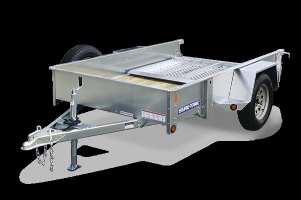 2018 Sure-Trac 7x12 Galvanized High Side Utility Trailer in Ashburn, VA