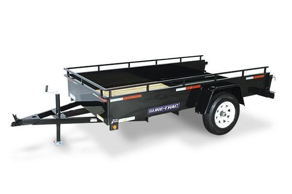 2018 Sure-Trac 5x8 Steel High Side Utility Trailer