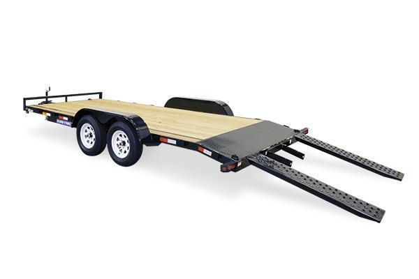 2019 Sure-Trac 7x16 Wood Deck Car Trailer