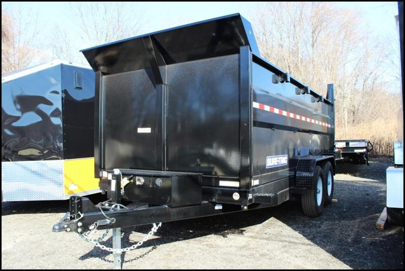 2019 Sure-Trac 7x14 14K LowProfile Dump Trailer [SCISSOR - HIGH SIDE]