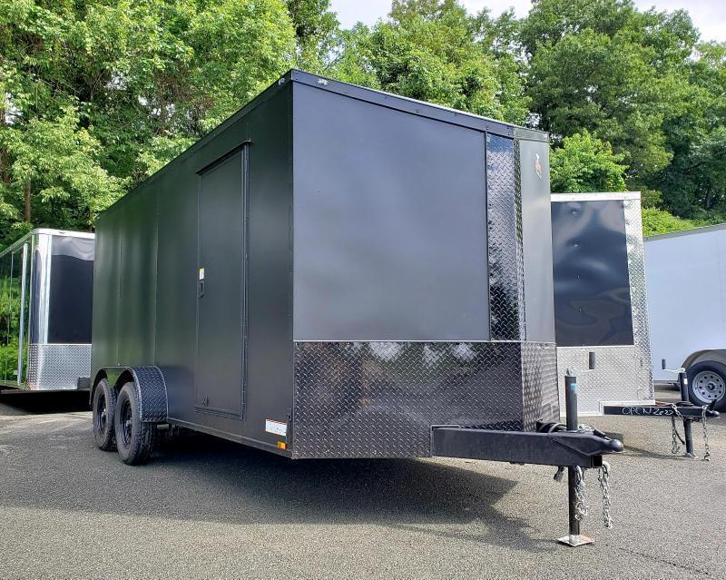 2020 Anvil 7x16 7K Enclosed Cargo Trailer [MATTE BLACK-OUT]
