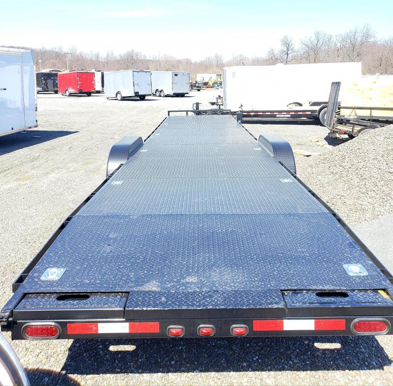 2019 Nation Tank and Trailer 7x36 14K Two Car Trailer