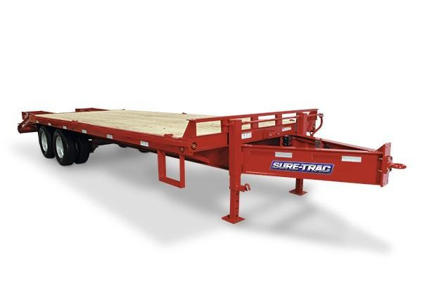 2018 Sure-Trac 8.5x20+5 26K Beavertrail Deckover Equipment Trailer