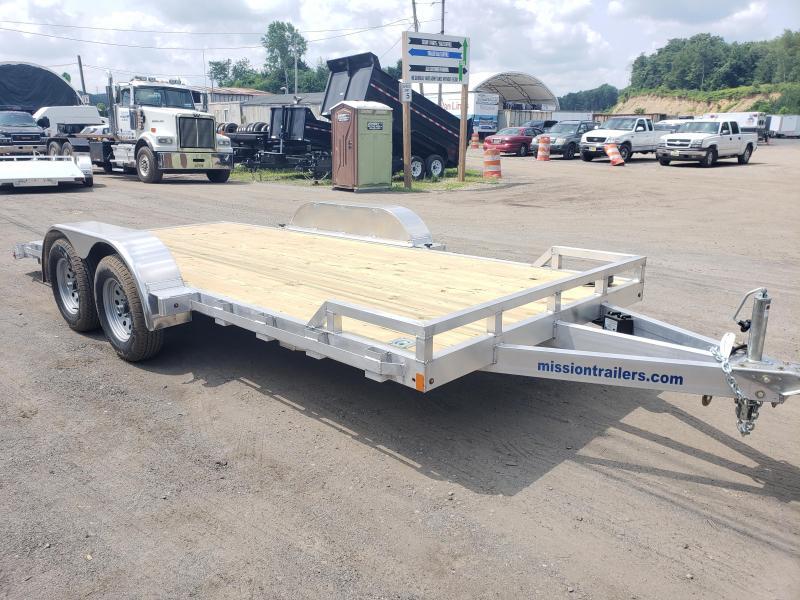 2019 Mission 7x18 Wood Deck Aluminum Car Trailer in Ashburn, VA