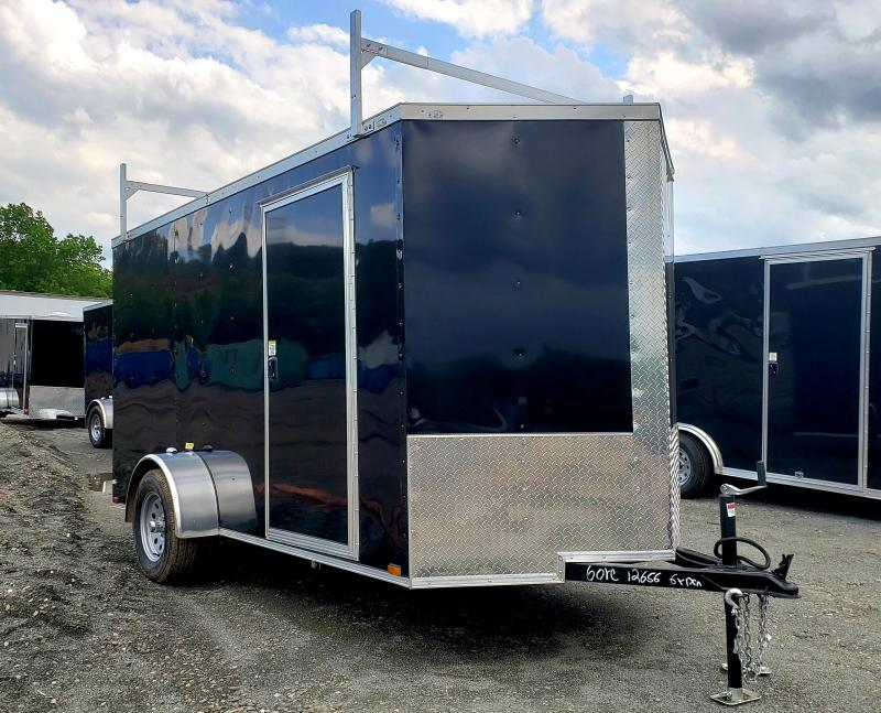 2019 Quality Cargo 6X12 Enclosed Cargo Trailer [Ladder Racks]