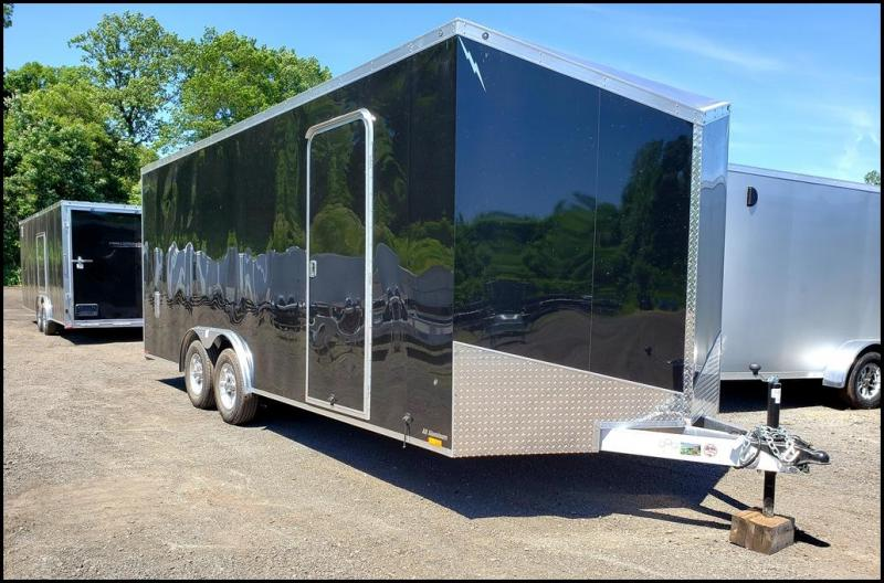2019 Lightning 8.5x20 Enclosed Car Hauler Trailer