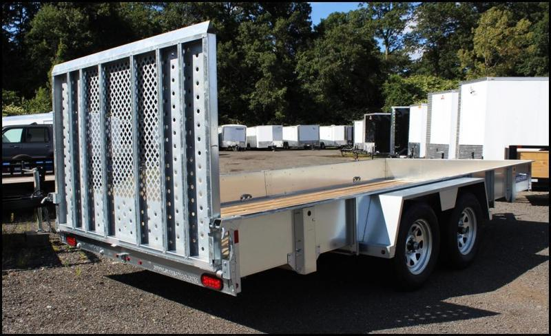 2019 Sure-Trac 7x16 Galvanized High Side Utility Trailer