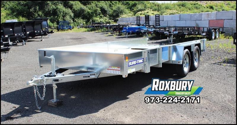 2018 Sure-Trac 7x16 Galvanized High Side Utility Trailer
