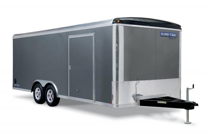 2019 Sure-Trac 8.5x18 10K Pro Round Top Car Hauler