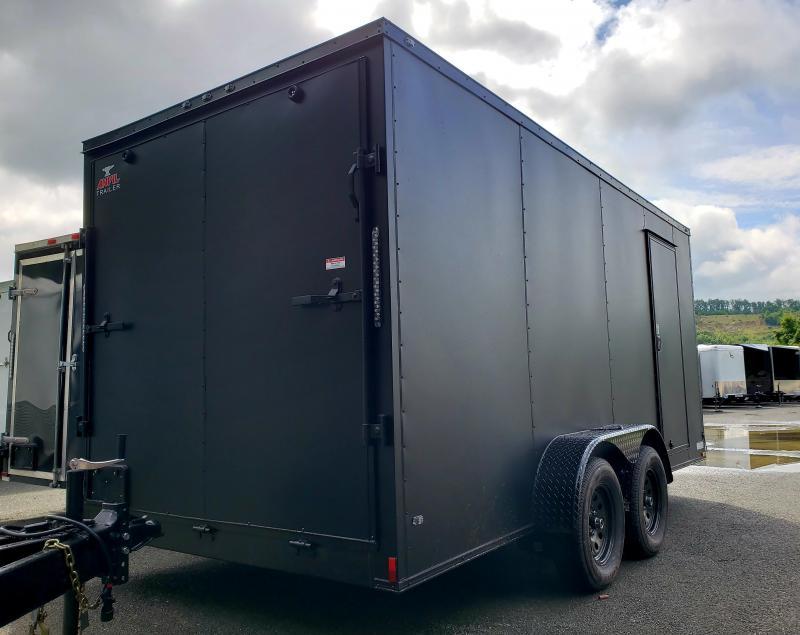 2019 Anvil 7x16 7K Enclosed Cargo Trailer [MATTE BLACK-OUT]