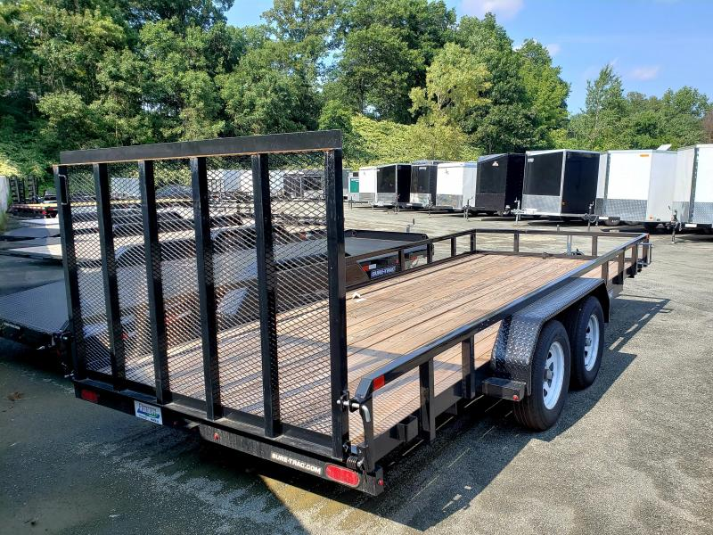 2018 Sure-Trac 7x18 Tube Top Utility Trailer [USED]