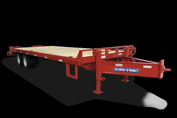 2019 Sure-Trac 8.5x20+5 22.5k Beavertail Deckover Equipment Trailer