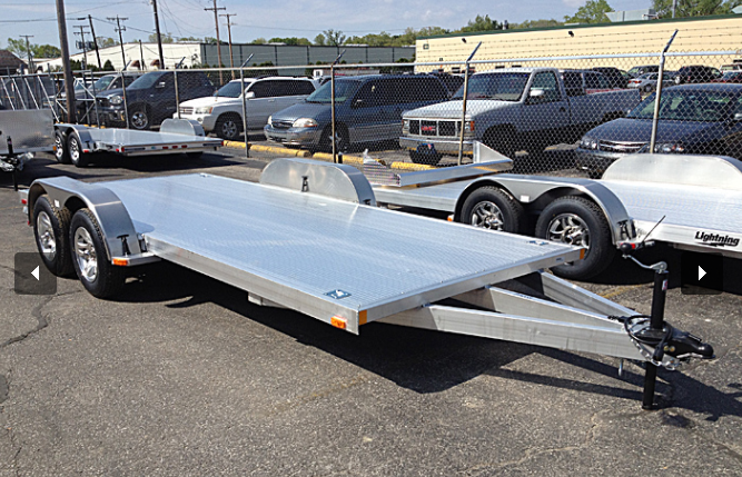 2019 Lightning 7x17 Aluminum Car Trailer [ALUMINUM RIMS]