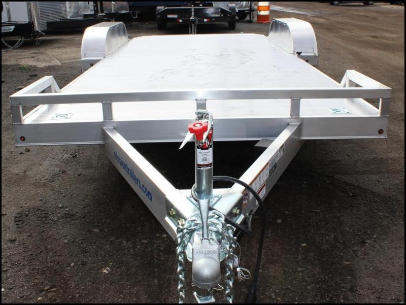 2019 Mission 7X18 7K Aluminum Car Trailer