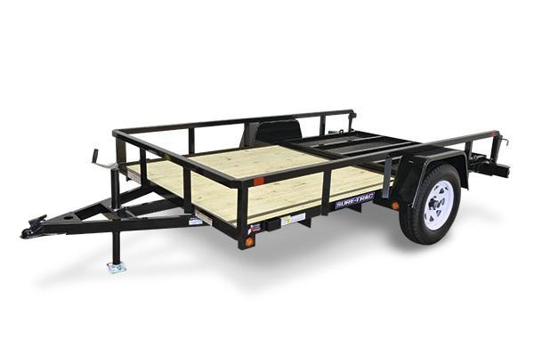 2017 Sure-Trac 7x14 SA Tube Top Utility Trailer