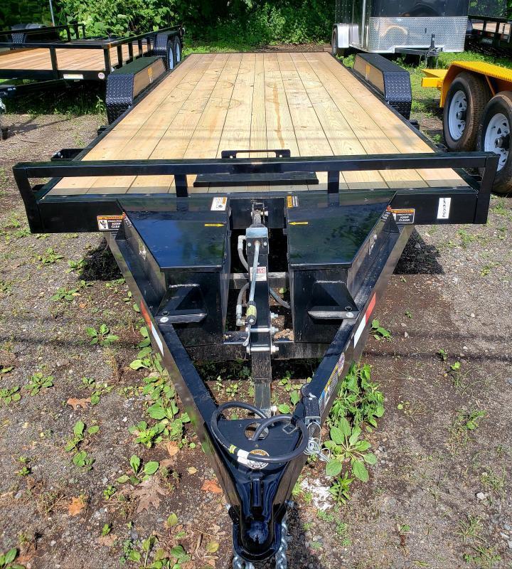 2018 Sure-Trac 7X18 10K Wood Deck Power Tilt Car Trailer