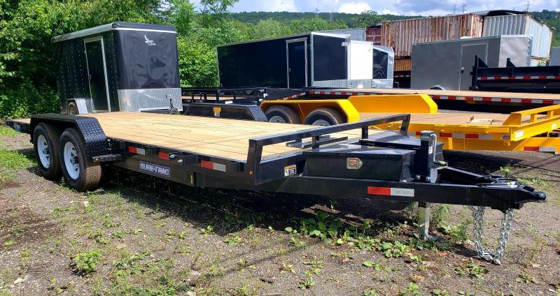 2018 Sure-Trac 7X18 10K Wood Deck Power Tilt Car Trailer