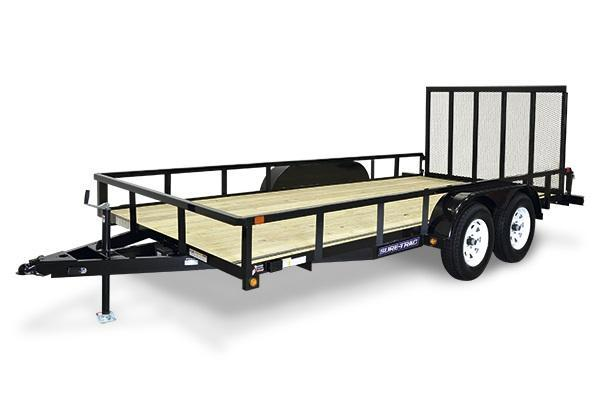 2018 Sure-Trac 7x18 7K Tube Top Utility Trailer