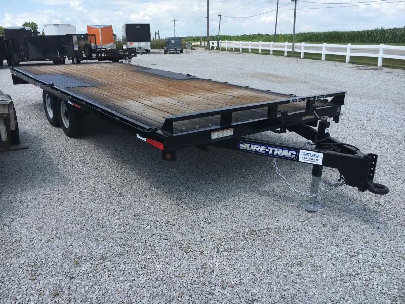 USED 2016 Sure-Trac 8.5X20 Flatbed Trailer