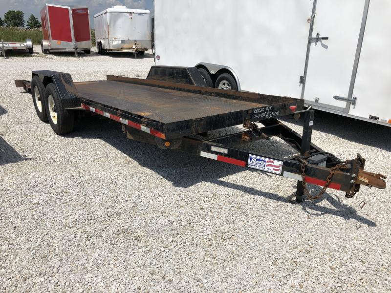 Used 2010 Liberty 7X20 Flatbed Trailer