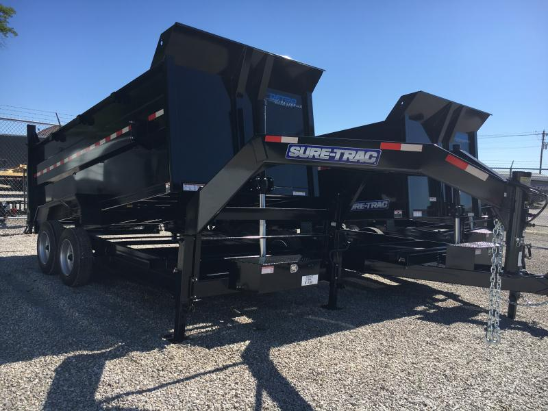 2018 Sure-Trac 82 IN X 14 LP 14K Goose Telescopic Dump