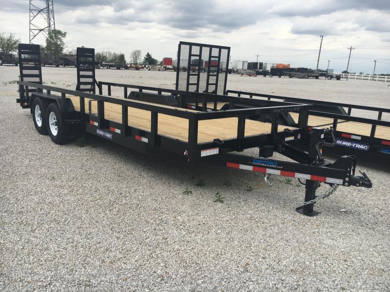 2019 Sure-Trac 7 x 22 14K Heavy Duty Equipment Trailer