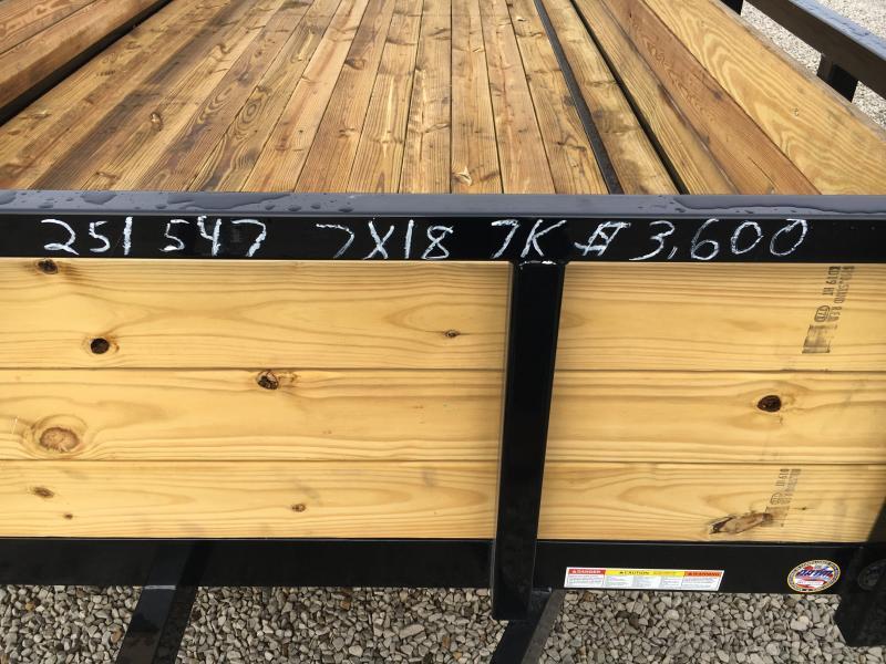 2019 Sure-Trac 7 X 18 Tube Top Three Board 7K Tandem