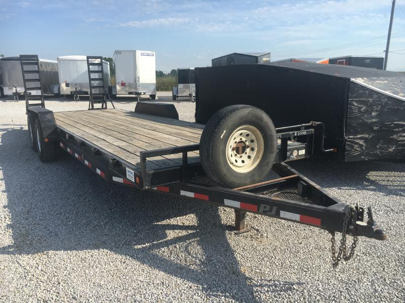 Used 2014 PJ Trailers 7X24 Flatbed Trailer