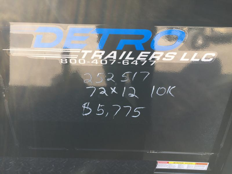 2019 Sure-Trac 72 IN x 12 LProfile 10K Single Ram Dump