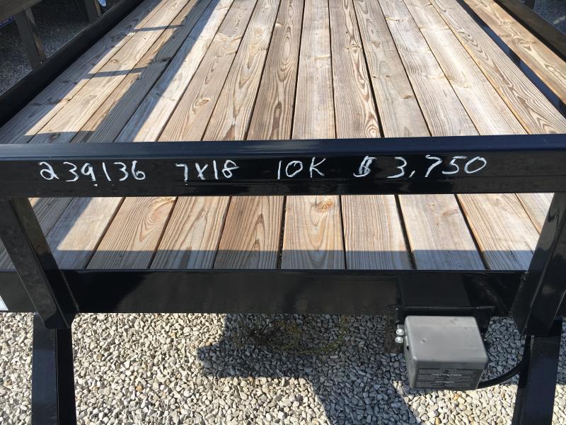 2019 Sure-Trac 7 X 18 Tube Top Utility 10K Tandem