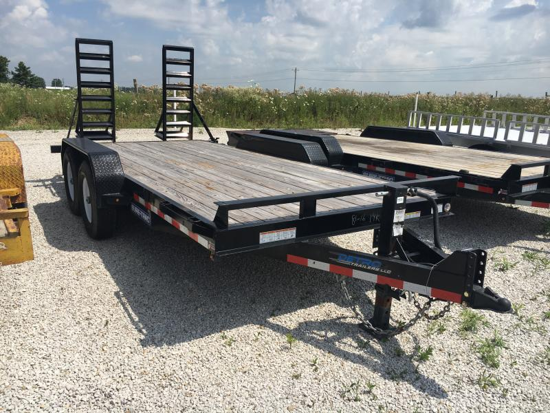 USED 2017 Sure-Trac 7X16 Equipment Trailer