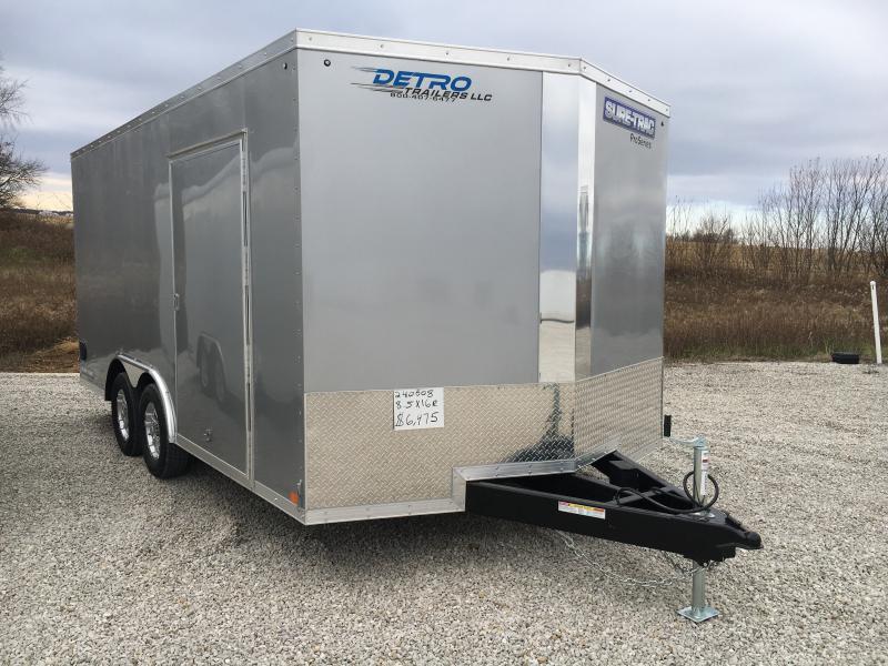 2019 Sure Trac 8 5x16 Pro Series Wedge Car Hauler 7k Detro
