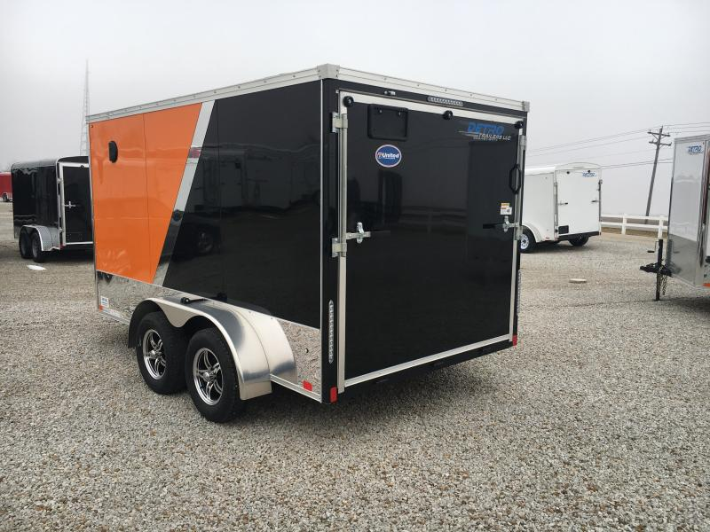 2019 United Trailers 7X12 Motorcycle Trailer