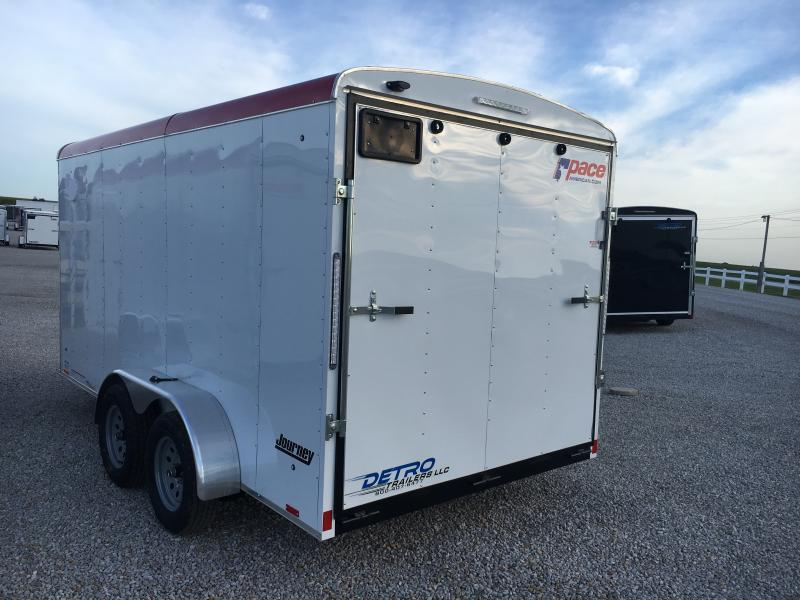 2019 Pace American Journey 7 Wide Tandem Cargo / Enclosed Trailer